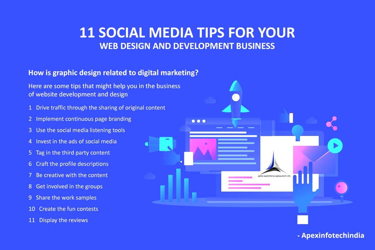 Social Media tips for web development