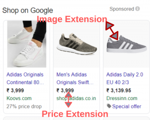 Image extensions & Price extensions