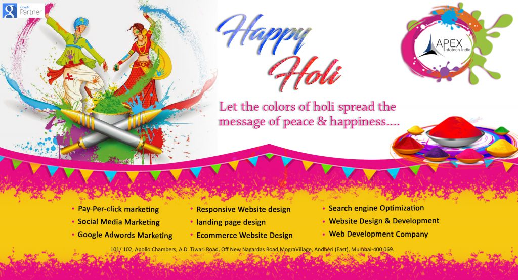 Apex InfoTech India wishing you all a colorful and happy Holi 2018 ...