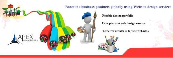 Boost the business products globally using Website design services
