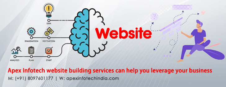 Apex Infotech India Pvt. Ltd. website building services can help you leverage your business
