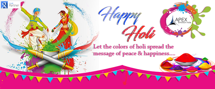 Apex InfoTech India Pvt. Ltd. wishing you all a colorful and happy Holi 2018